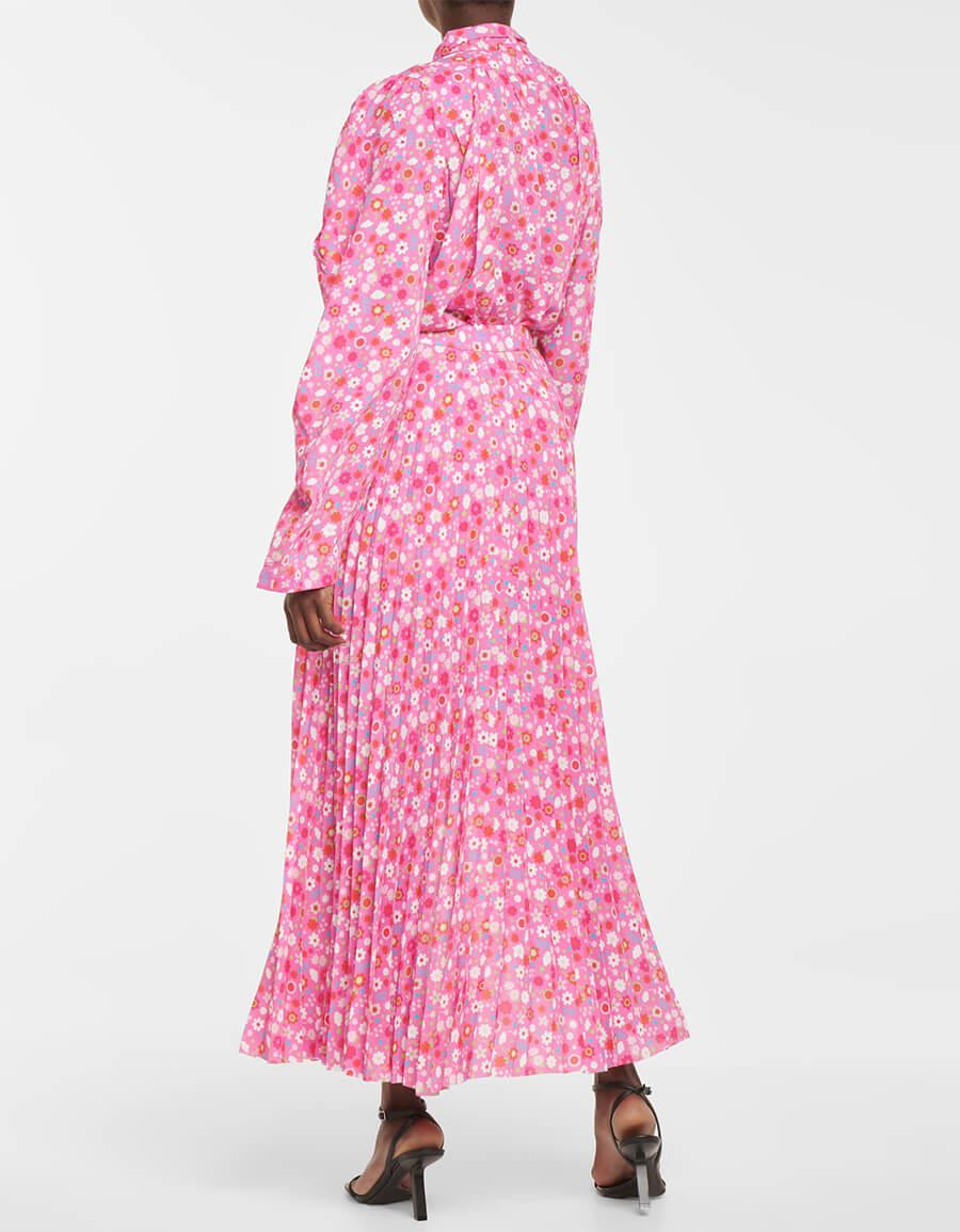 BALENCIAGA Floral high rise crêpe maxi skirt