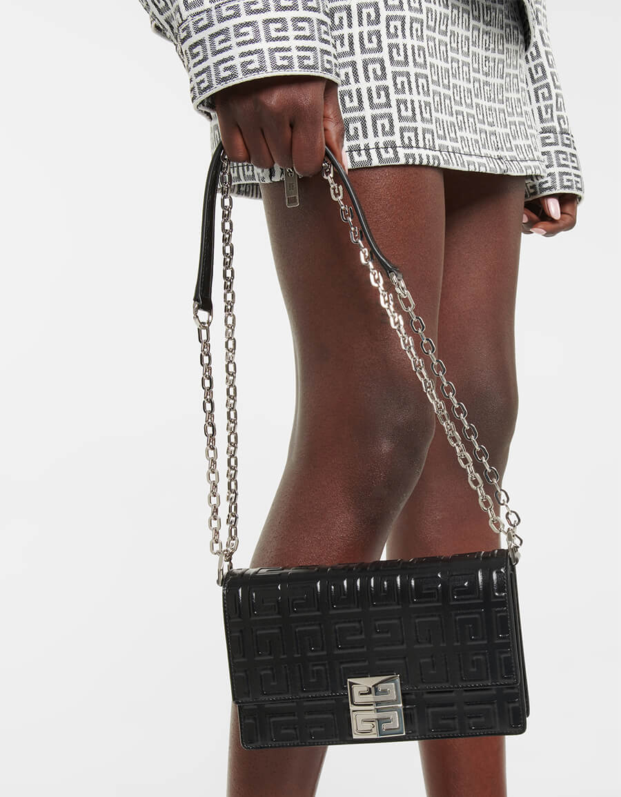 GIVENCHY 4G Small embossed leather crossbody bag