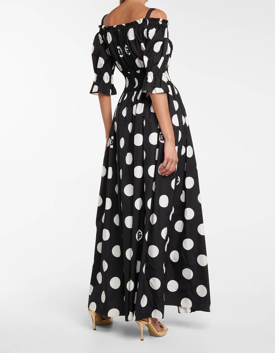 DOLCE & GABBANA Exclusive to Mytheresa – Polka dot cotton maxi dress