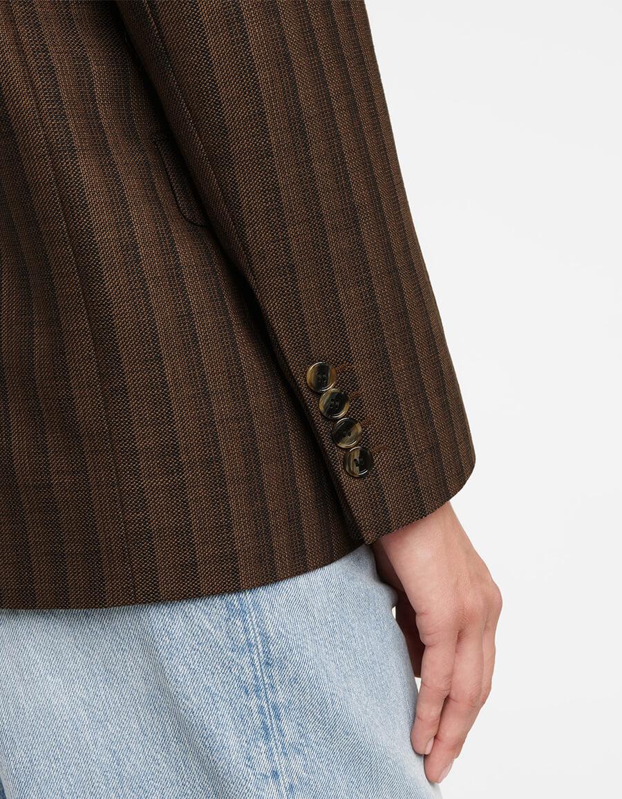 ACNE STUDIOS Striped cotton and wool blazer