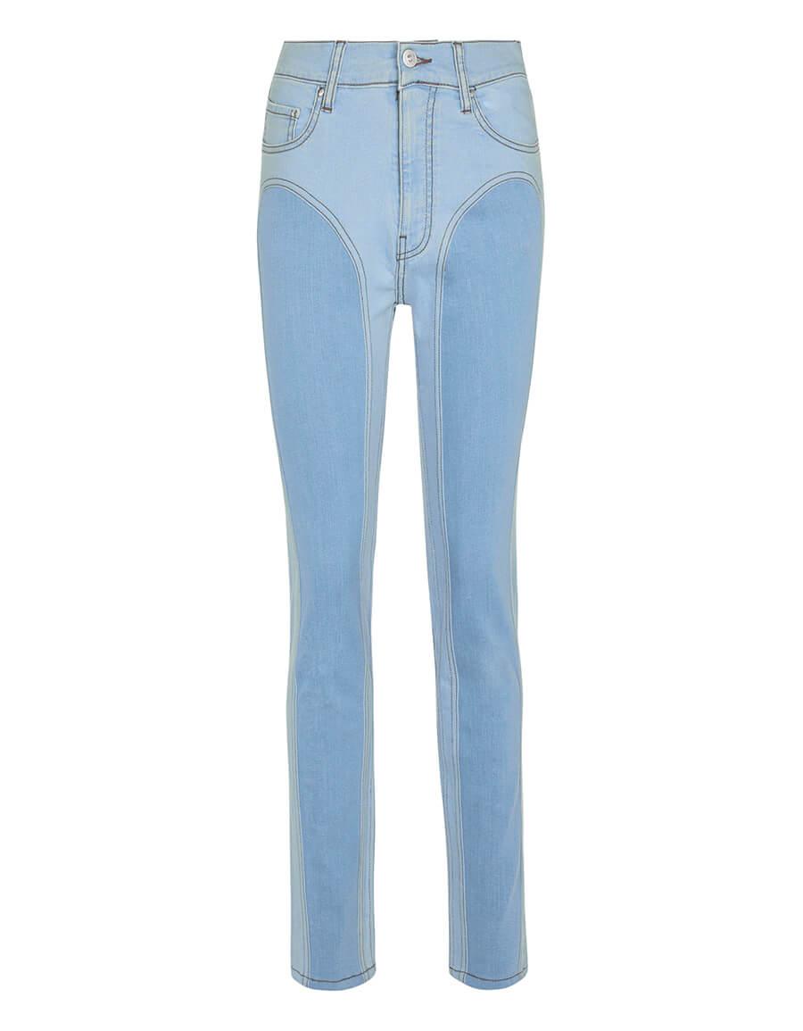Y/PROJECT Stretch cotton denim leggings