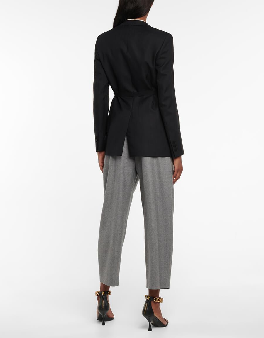 STELLA MCCARTNEY Belted wool blend blazer