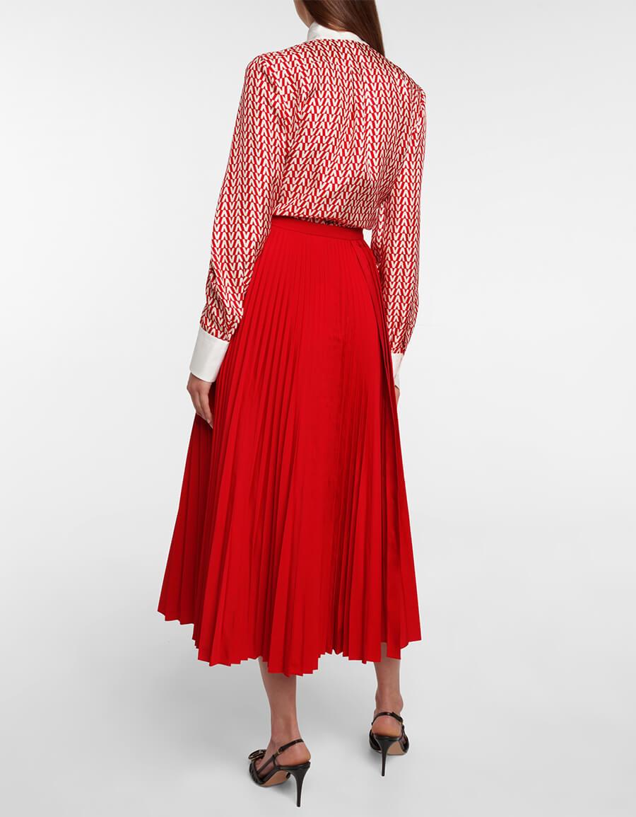 VALENTINO Pleated midi skirt