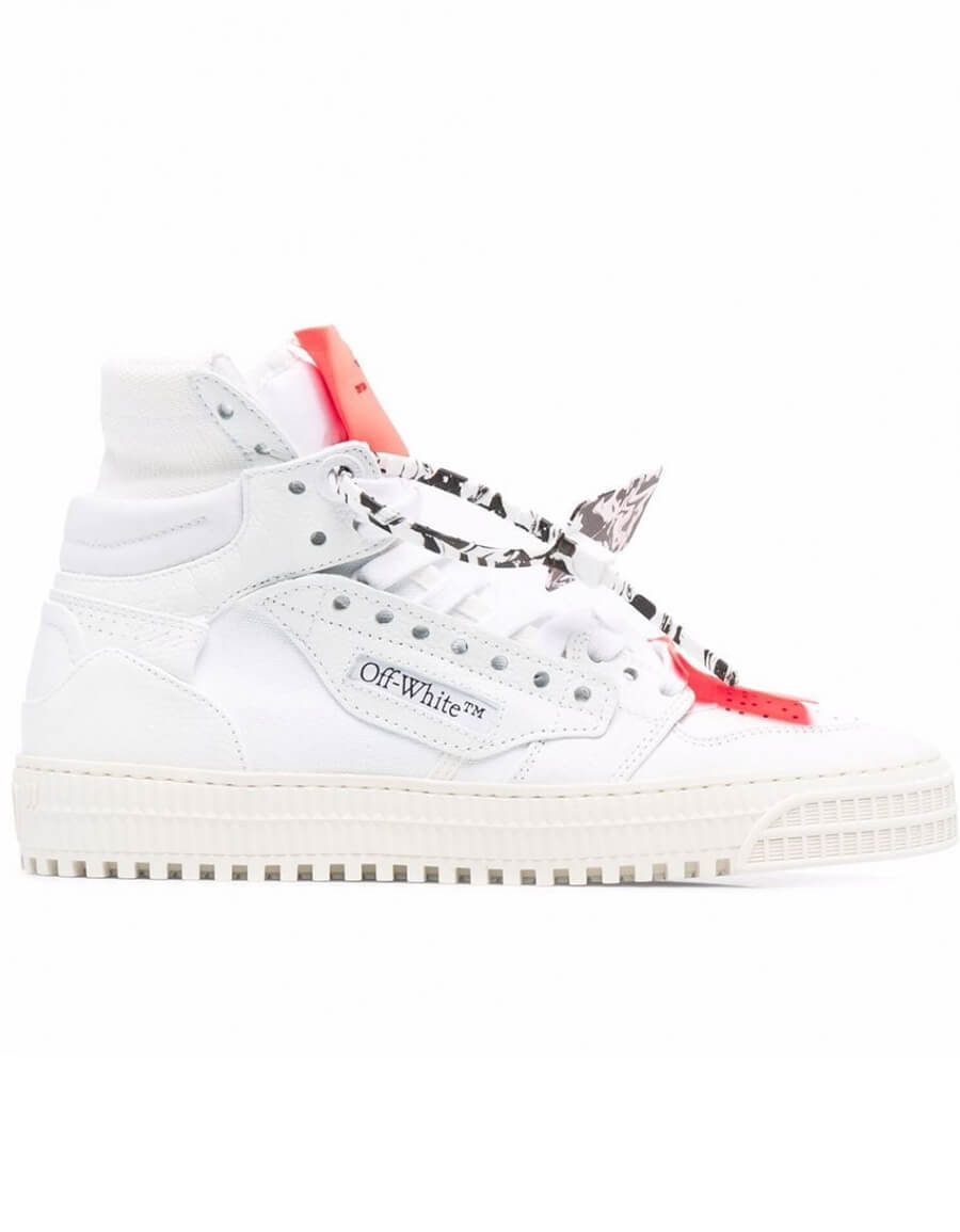 OFF WHITE 3.0 OFF COURT LEATHER SNEAKERS