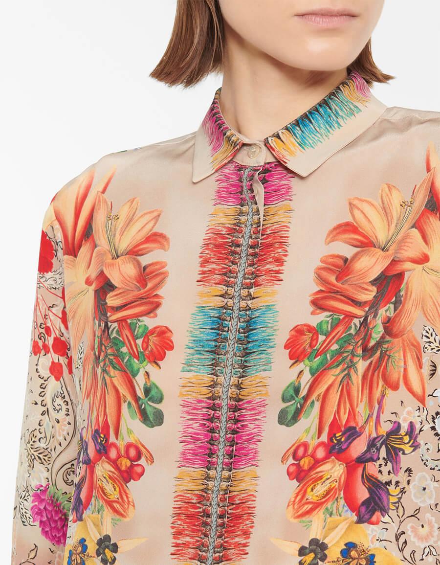 ETRO Floral silk crêpe de chine minidress
