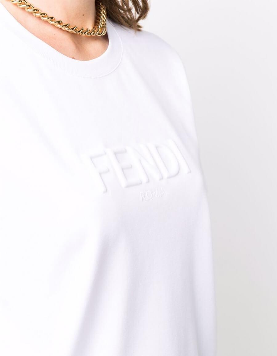 FENDI T SHIRT IN COTONE