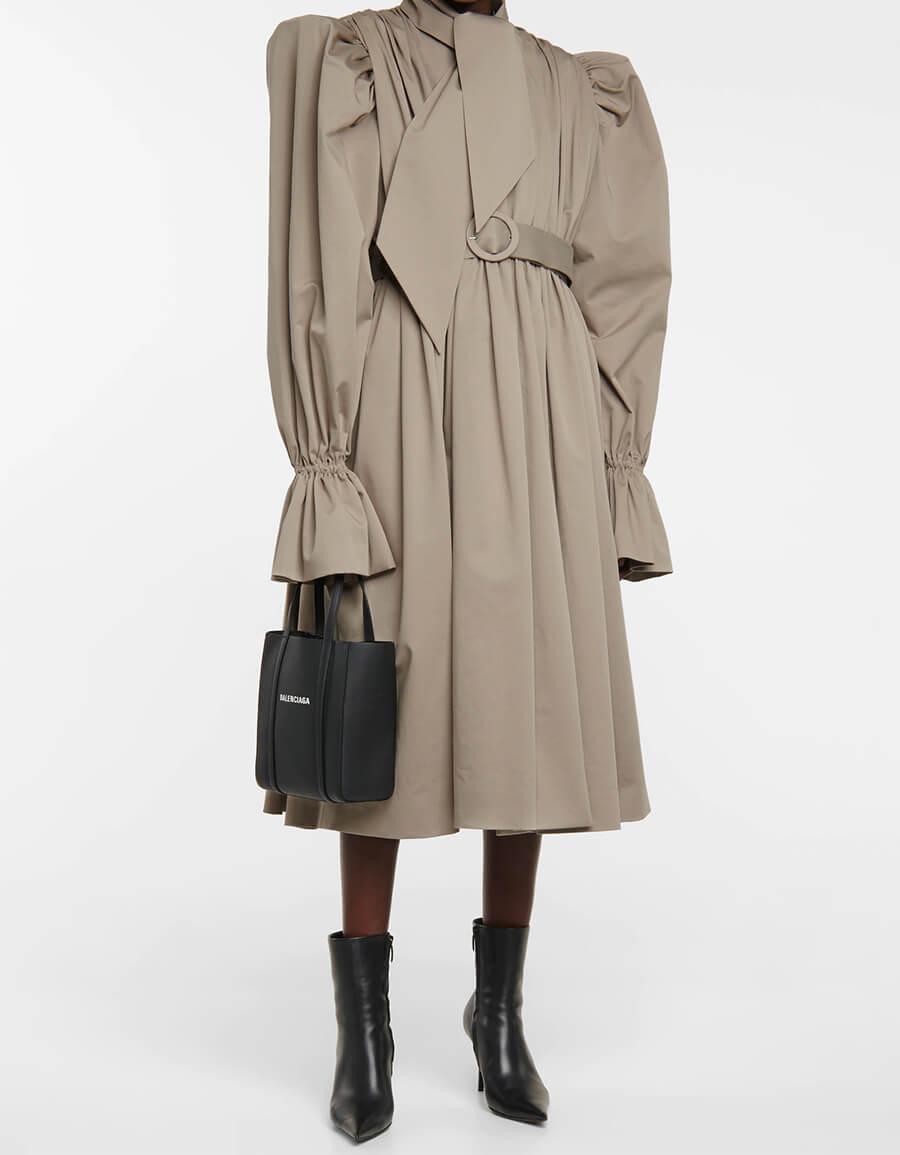 BALENCIAGA Cotton gabardine trench coat dress
