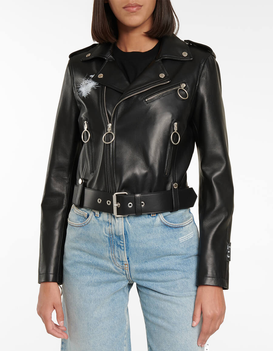 OFF WHITE Arrows leather jacket