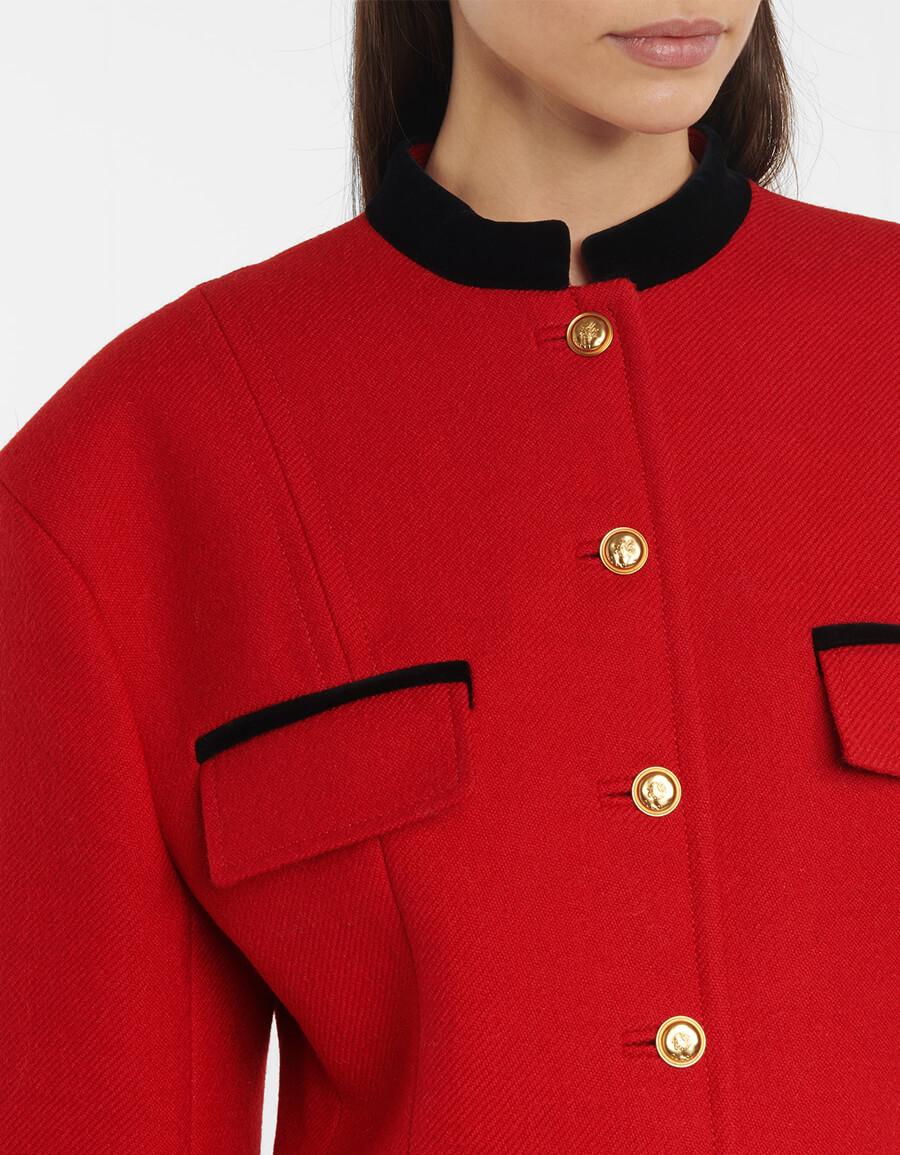 GUCCI Velvet trimmed wool blend jacket