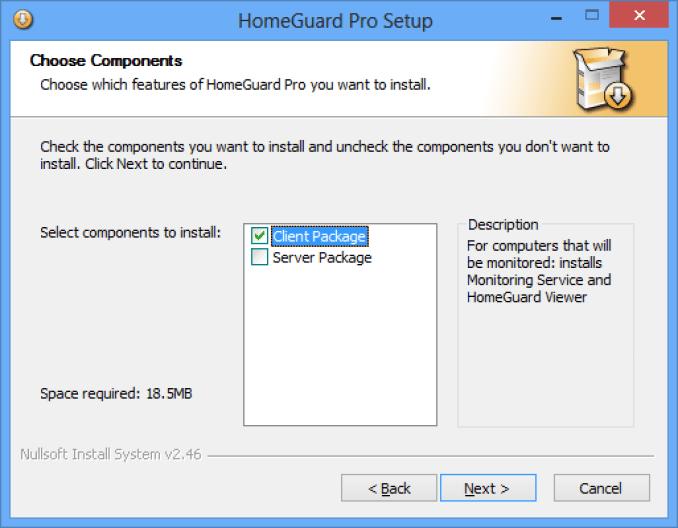 HomeGuard Professional Edition Installation | Veridium Software