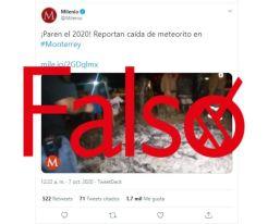Milenio reporta caída de meteorito en Monterrey