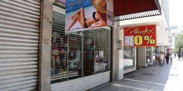 Negocios cerrados en el centro de Monterrey. Foto: Jorge López.