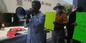Protestas antivacunas en Monterrey