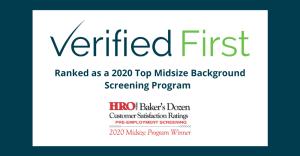 Verified First Makes 2020 HRO Today's Baker's Dozen List