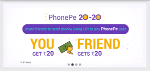 Phonepe UPI App Refer & Earn