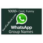 1000+ Best WhatsApp Group Names list for Friends, Cool, Funny, Family