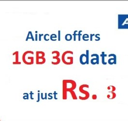 Aircel Rs 3 plan