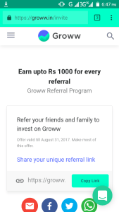 Groww.in Paytm Loot: Get Rs 50 on Signup & Upto Rs 1000