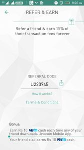 Unocoin Referral Code [U220745] Earn rs 200 Free Bitcoin On Signup