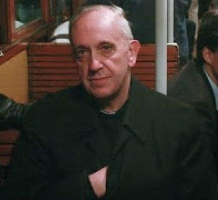 masonic hand signs: Pope Francis Hidden Hand