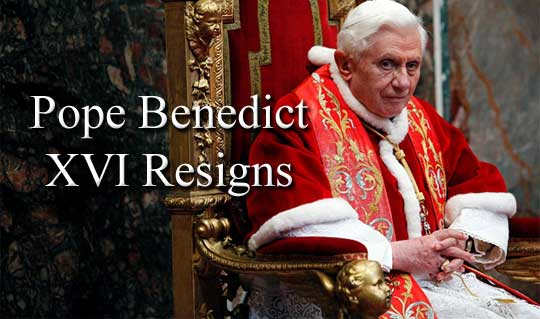 Benedict XVI, the resignation of a Pope