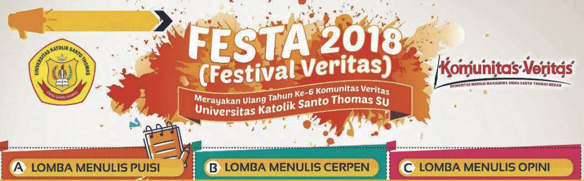 Inilah Pemenang Lomba Menulis Festival Veritas (FESTA) 2018, Kamukah Satu Diantaranya?