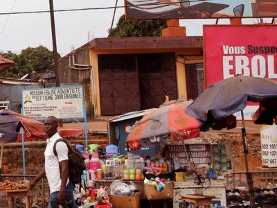 Une plaque sensibilisant sur la prévention du virus Ebola
