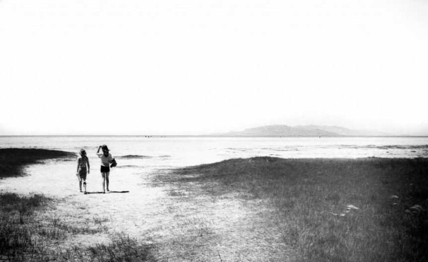 Beach Sisters Walking by r. nial bradshaw