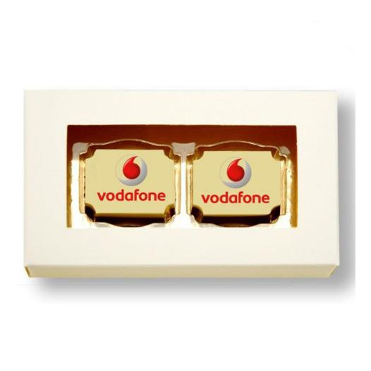2 Logobonbons in geschenkdoos