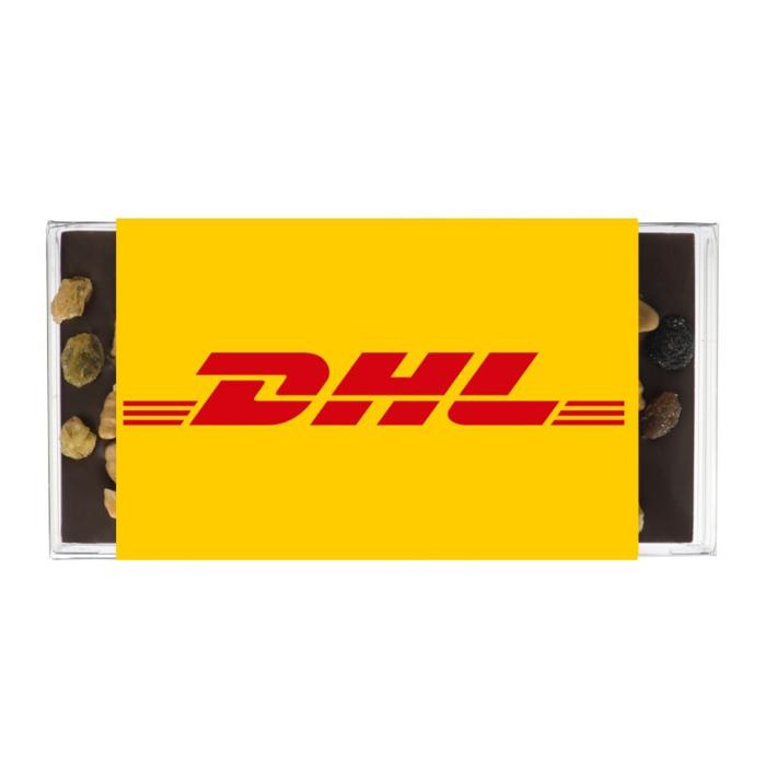 Pure chocoladereep noten en rozijnen