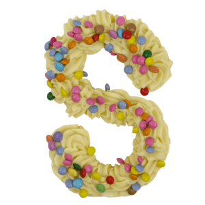 Chocoladeletter Wit Smarties