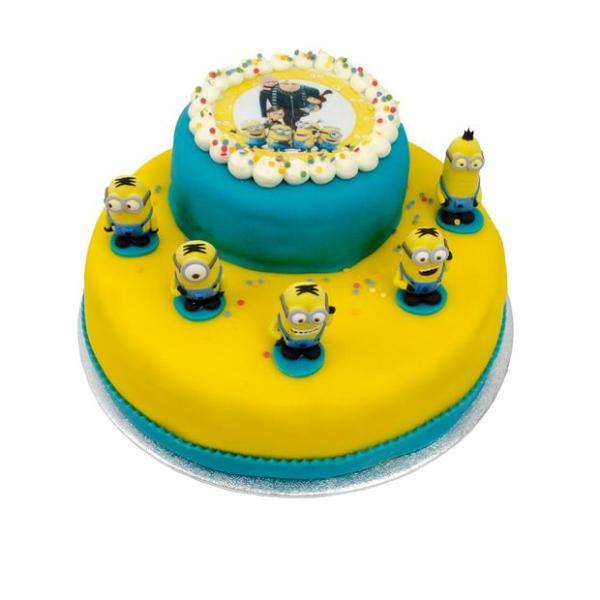 Minion stapel taart