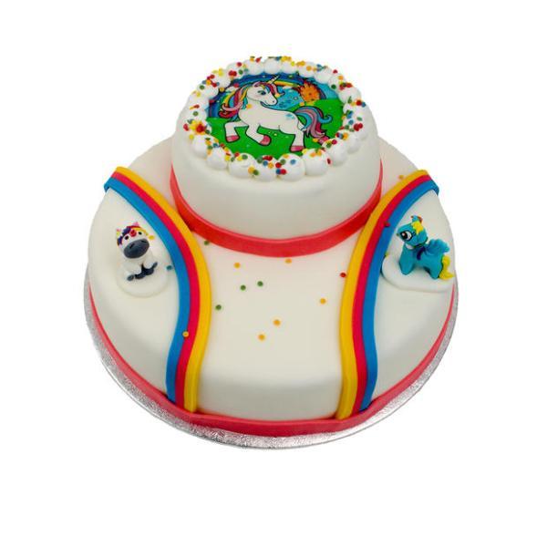 Unicorn stapel taart