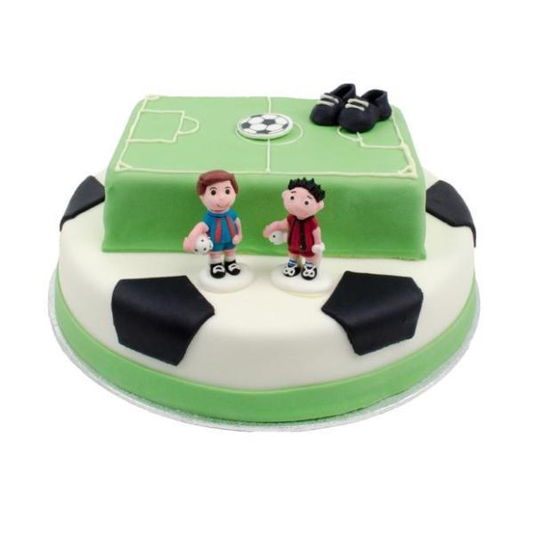 Voetbal stapel taart