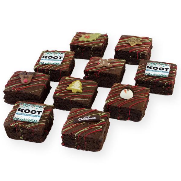 Kerst chocolade brownies