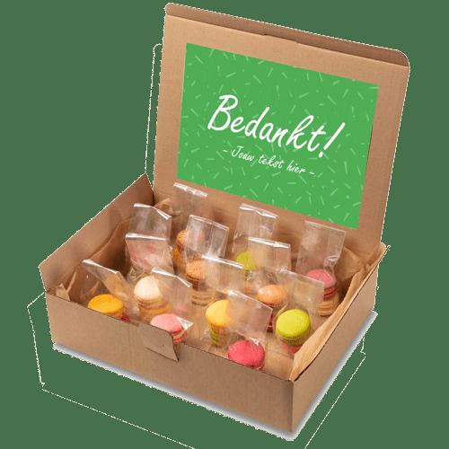 "Macaron box ""Bedankt!"""