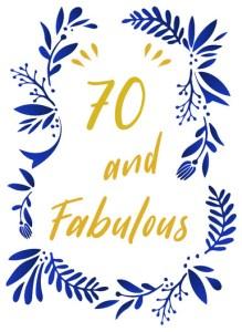 Verjaardagskaart 70 jaar