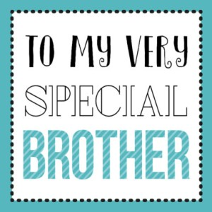 Verjaardagskaartje broer