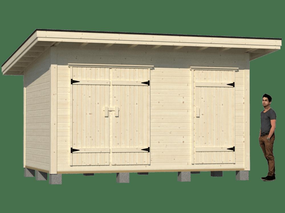 Pulpettikatto varasto 12m2