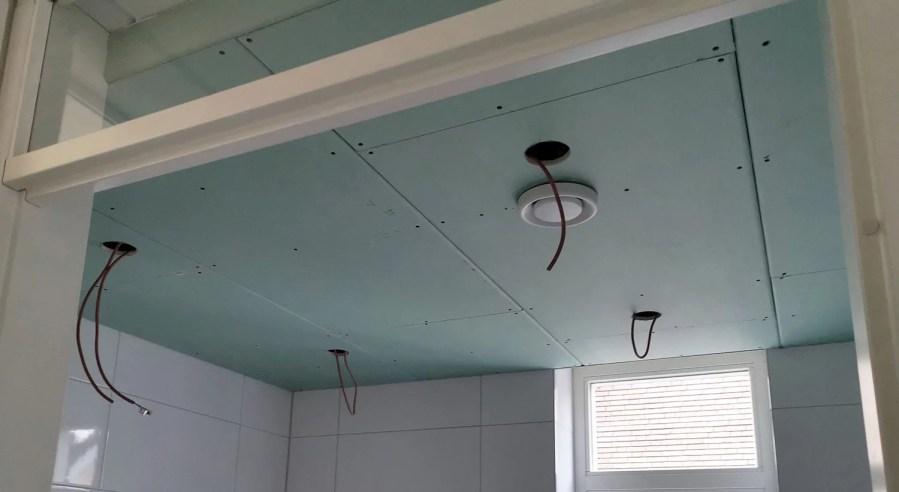 Gipsplaten Verlaagd Plafond Badkamer
