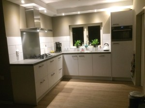 Keuken met inbouwspots plafond