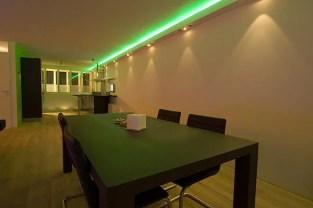 Koof Plafond Woonkamer LED en Inbouwspots
