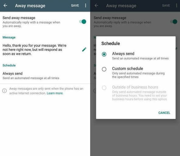 whatsapp business auto reply bot