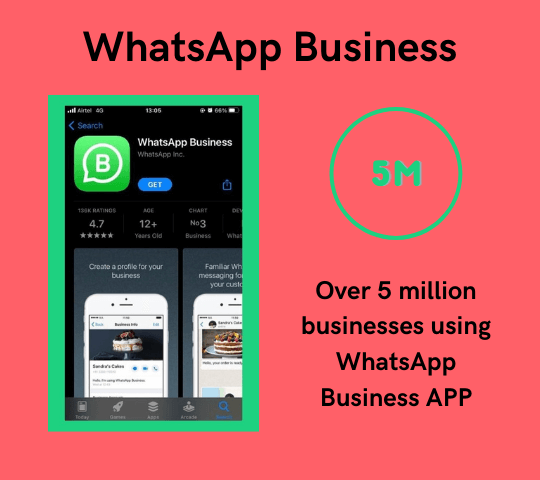 over 5 million companies are using whatsapp business