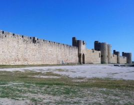The view from outside of Satyna. The image is of Aigues-Mortes in France.