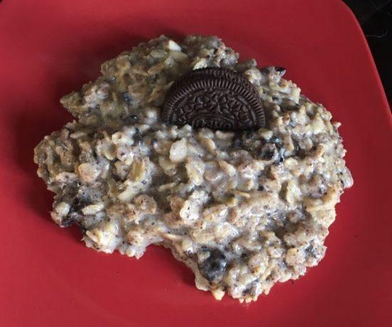 Oreo Cookies and Cream Oatmeal