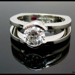 Tension Set Diamond Engagement Ring