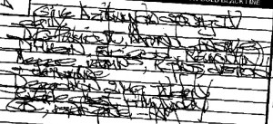 Is this type of handwriting a defense to a Vermont traffic ticket?