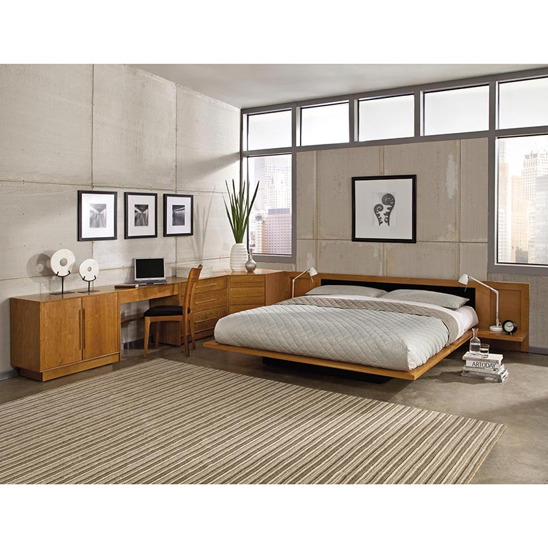 Copeland Moduluxe Leather Platform Bed Upholstered