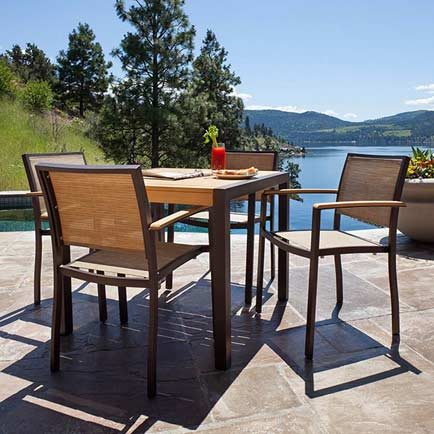 Outdoor Patio Furniture Sets   Vermont Woods Studios Outdoor Dining Furniture Sets      Bayline Outdoor Dining